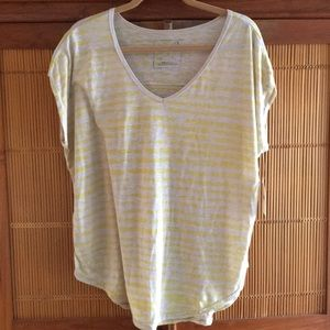 Free People NWT V neck Striped Flowy Top Large
